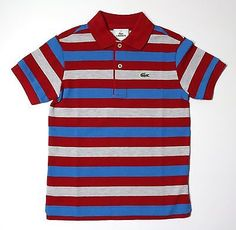 b896e12d8f9b LACOSTE Boy s Bold Stripe Pique Polo Shirt