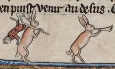 Killer Rabbits in Medieval Manuscripts: Why So Many Drawings in the Margins Depict Bunnies Going Bad Medieval Drawings, Medieval Art, Medieval Manuscript, Illuminated Manuscript, Man Beast, Doodles, Religious Books, Book Of Kells, History Memes