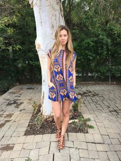 Another gorgeous boho print by Tysa Designs. This one is the Paris dress in 'Harvest Blue'