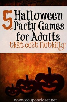 Halloween Party Ideas for Adults - Halloween Games                                                                                                                                                     More