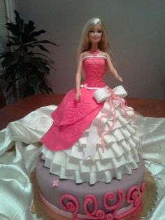 466 Best Barbie Cakes Images In 2019 Birthday Cakes Fondant Cakes