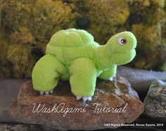 Baby Washcloth Elephant WashAgami ™ Diaper by TopsyTurvyDiaperCake