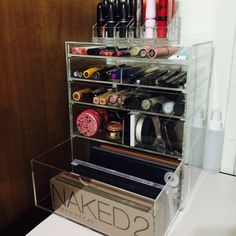 GlamoureBox Acrylic Makeup Organizer Cosmetic Cube Case Vanity Storage With Drawers Makeup Box, Makeup Case, Skin Makeup, Glow Makeup, Makeup Geek, Make Up Organizer, Cube Organizer, Beauty Organizer, Organizers
