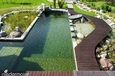 - Pool im garten - Piscinas Natural Swimming Ponds, Outdoor Swimming Pool, Swimming Pools, Cheap Pool, Outdoor Ponds, Pool Enclosures, Rectangular Pool, Diy Pool, Modern Pools