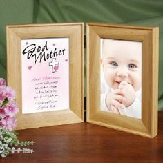 Personalized Godparent Picture Frame - Count My Blessings Personalised Christening Gifts, Godparent Gifts, Baptism Gifts, Baptism Ideas, Dedication Ideas, Baby Dedication, First Communion Gifts, First Holy Communion, Mariana