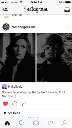Her face knowing she's expected to fight Steve