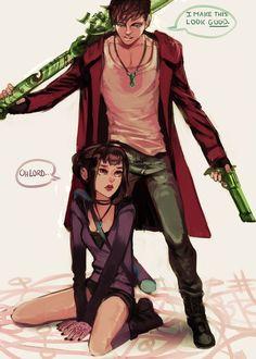 Danny and Sam (DmC Style) by MiroirTwin.deviantart.com on @DeviantArt: