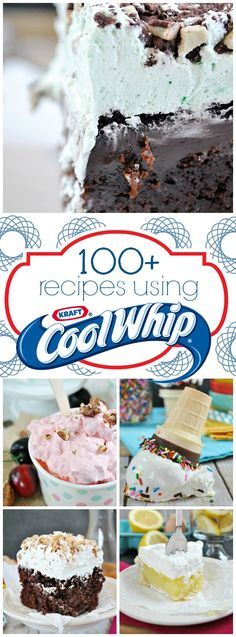 Over 100 recipes that use Cool Whip! | www.somethingswanky.com