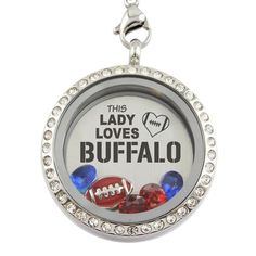 This Lady Loves Buffalo Football Necklace - Hot Trend T-shirts