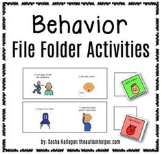 Instructions and printables to make 6 file folder activities to work on behavioral issues! It is essential to make behavioral strategies an embedde. Social Skills Activities, Teaching Social Skills, Fun Activities, Teaching Ideas, Life Skills Classroom, Classroom Behavior, Autism Classroom, Classroom Ideas, File Folder Activities