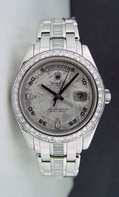 ROLEX - Mens 39mm Platinum Masterpiece Meteorite Diamond Dial - 18956 SANT BLANC Click to find out more -  http://menswomenswatches.com/rolex-mens-39mm-platinum-masterpiece-meteorite-diamond-dial-18956-sant-blanc/