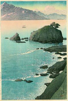 Kude Beach in Wakasa, by Kawase Hasui