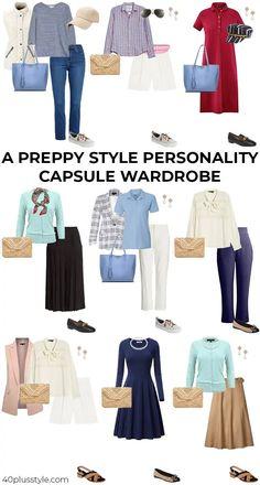 Preppy Wardrobe, Fall Wardrobe Essentials, Fall Capsule Wardrobe, Classic Wardrobe, Classic Outfits, Wardrobe Ideas, Classic Style, Preppy Dresses, Preppy Outfits