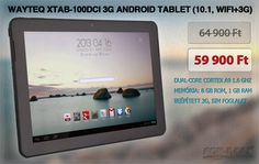 "ayteQ xTAB-100dci 3G Android tablet (10.1"" IPS, DualCore, WiFi+3G)   www.for-max.hu/1253-wayteq/wayteq-xtab-100dci-3g-android-tablet-10.1-ips-dualcore-wifi+3g.html?utm_source=salecikk&utm_medium=salecikk&utm_campaign=salecikk"