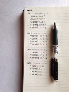 Indexing your notebook for class....just like a bullet journal