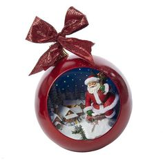 Kurt Adler Santa Music Ball Christmas Ornament ($103) ❤ liked on Polyvore featuring home, home decor, holiday decorations, multicolor, kurt adler christmas ornaments, music christmas ornaments, christmas ornaments and holiday decor