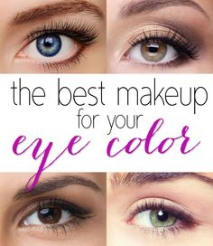 How to Pick the Best Eye Shadow Shades For Your Eye Color: Make Your Eyes Pop! #eyecolor