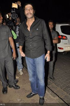 Chunky Pandey during the wedding reception of Bunty Walia and Vanessa Parmar, held at Olive in Mumbai on December 28, 2012.