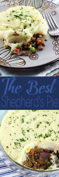 Ive eaten plenty of Shepherds Pies throughout the years, and they can all pretty much be the same. I can honestly say, without a doubt, this is The Best Shepherds Pie! Irish Recipes, Meat Recipes, Cooking Recipes, Cooking Food, Recipes Dinner, Stromboli, One Pot Meals, Easy Meals, Good Food