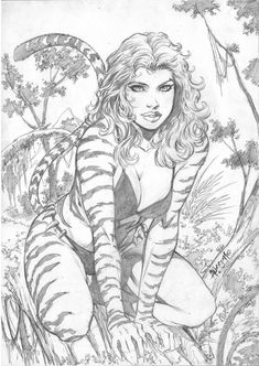 Tigra by Alisson Rodrigues Tigra Marvel, Marvel Art, Comic Book Characters, Comic Books Art, Cheetah Dc Comics, Character Art, Character Design, Fantasy Art Women, Arte Sketchbook