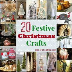 20 Festive Christmas Crafts | Decorating Files | #christmas #christmascrafts