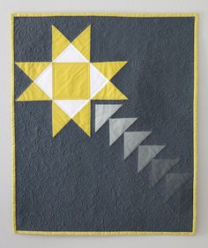 Freshly Pieced Modern Quilts: Shooting Star Mini Quilt - New Pattern Now Available and On Sale!