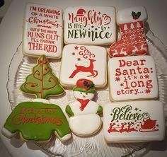 Christmas Cookies, Santa, Desserts, Food, Xmas Cookies, Tailgate Desserts, Dessert, Postres, Christmas Candy