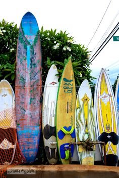 A surfboard fence in Maui! / Why you need to visit Paia, and other Maui tips / FunkyJunkInteriors.net