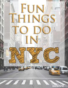 Check out this list of fun things to do in NYC -- most of them are cheap or free! All the things you have to do while visiting the Big Apple.