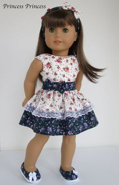 "American girl doll clothes "" Melody "" Rose - Pink x Purple ( 3 pieces items ) Sewing Doll Clothes, Girl Doll Clothes, Doll Clothes Patterns, Girl Dolls, Ag Dolls, Doll Patterns, American Girl Diy, American Girl Dress, American Doll Clothes"