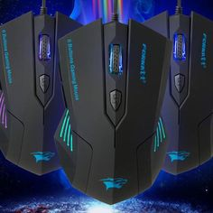 SILENT FROSTED ERGONOMICS 2400DPI USB 6D WIRED OPTICAL GAMING MOUSE