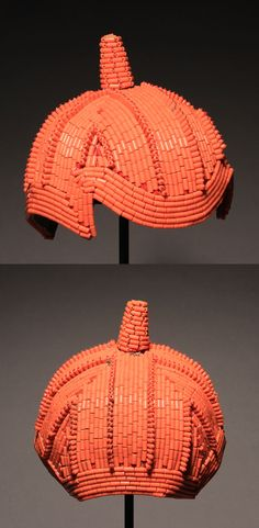 Africa | Judicators cap from the Yoruba people of Nigeria | Early 20th century