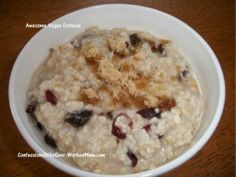 Vegan breakfast recipe – Awesome Oatmeal
