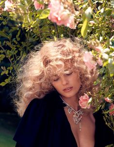 Edita Vilkeviciute Sports Romantic Looks for Vogue Japan September 2012 by Camilla Akrans Vogue Japan, Edita Vilkeviciute, Romantic Look, Big Hair, Belle Photo, Camilla, Hair Inspiration, Editorial Fashion, Curly Hair Styles