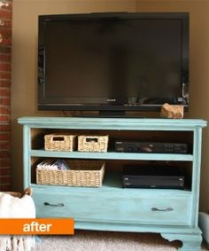 How To Repurpose a Dresser into a TV Stand Yup, need to learn how to do this stuff.
