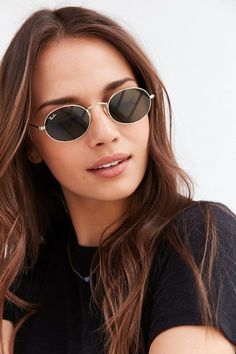Ray-Ban Icon Oval Flat Lens Sunglasses - Women's style: Patterns of sustainability Oval Sunglasses, Wayfarer Sunglasses, Sunglasses Accessories, Sunglasses Women, Polarized Sunglasses, Sunnies, Vintage Sunglasses, Mirrored Sunglasses, Folding Sunglasses