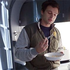 """""""Hungry, James?"""" """"No,"""" he took a mouthful. """"What makes you say that?"""" He smiled, he'd been eating all day."""