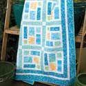 Sea Glass One-Block Lap Quilt Pattern