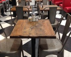 Reclaimed Wood Table Tops Restaurant TABLE TOPS Custom Made X - Restaurant table top ideas