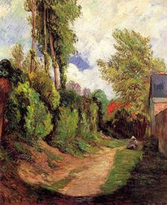 Paul Gauguin ~ Sunken Lane, 1884