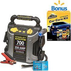 Stanley FatMax 700 Amp Jump Starter & *Car Care Kit* Bundle - Walmart.com