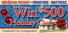 We're giving away $500 in holiday cash on our Facebook page - enter now! #giveaway #free #contest #sweepstakes #money