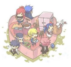 Don't like two pairings (Jerza and Nalu) but cute anyway