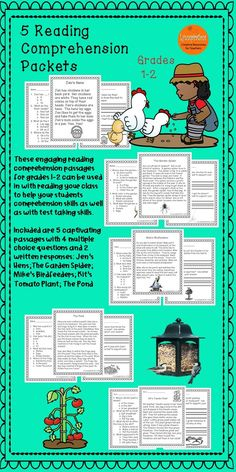 Do you need some engaging reading comprehension passages for your first and second grade students?  Enjoy these five Backyard stores!