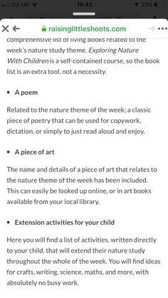 Outdoor Learning, Forest School, Nature Study, Book Lists, Poems, Self, Activities, Poetry