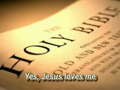 Jesus Loves Me This I Know - Anna B. Warner - With Lyrics  ♫ Jesus loves me! This I know, for the Bible tells me so…♪ Who's singing along?