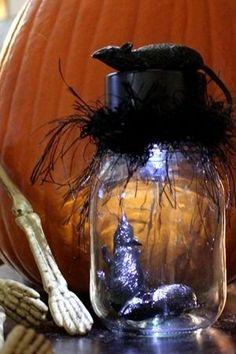 Mason Jar Halloween Idea.