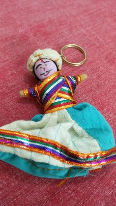 Hindi (Indian) name for Puppet is Kathputli. Eaxh keychain is beautifully crafted in traditional Indian attire. Key Rings, Key Chain, Handicraft, Puppets, Coin Purse, Indian, Dolls, Wallet, Unique Jewelry