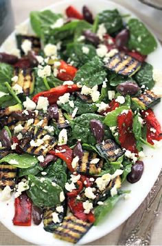 Low FODMAP Recipe and Gluten Free Recipe - Feta and Mediterranean vegetable salad