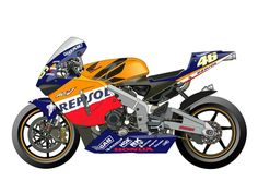 Suzuki Superbike, Honda Cbr 1000rr, Honda Sport Bikes, Honda Motorcycles, Motogp Teams, Motorcycle Design, Motorcycle Art, Valentino Rossi 46, Bike Illustration